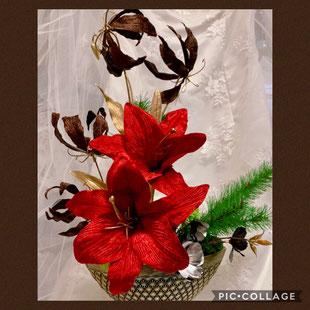 #手作り#クリスマス#フラワーレッスン名古屋#手作りウェディングアイテム#手作りウェディング#婚活アイテム #&#カレイドフレーム名古屋#フラワーレッスン名古屋#お正月レッスン#お正月飾り#和風アレンジメント