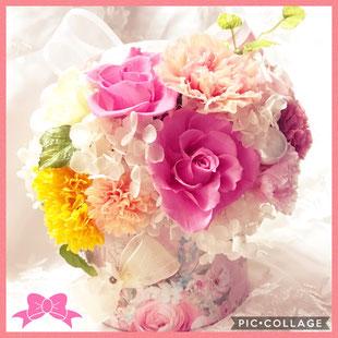 #母の日#プレゼント#プリザーブドフラワー#フラワーレッスン#手作りウェディングアイテム#プリザーブドフラワーアレンジメント#名古屋プリザーブドフラワー教室#結婚祝い#出産祝い#誕生日祝い