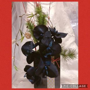 #和風飾り#お正月飾り#胡蝶蘭#モダンシック#アーティフィシャルフラワー#手作りウェディング#名古屋手作りウェディング