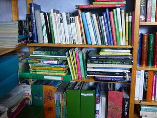 Unser Bücherbord - ein kleiner Teil...