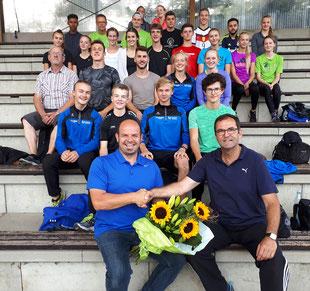 Roman Buhl (links) verstärkt ab sofort das Trainerteam in Rhede und wird primär für die Sprungdisziplinen zuständig sein.