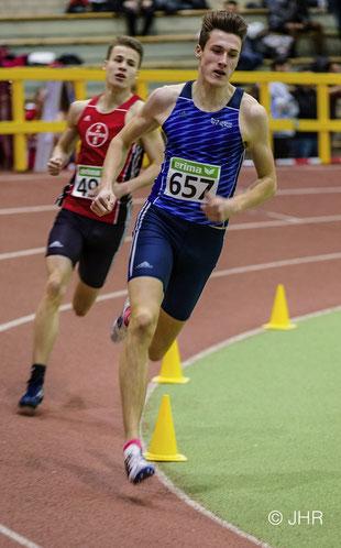Sieg und DM-Norm für U18-Läufer Jan-David Ridder in 1:57,82 Minuten über 800m. (Foto: Jan-Hendrik Ridder)