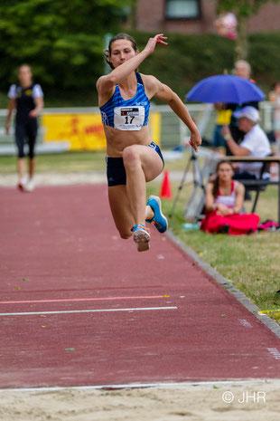 Klaudia Kaczmarek sichert sich bei den Deutschen Meisterschaften in Nürnberg die Bronzemedaille im Dreisprung. (Archivfoto: Jan-Hendrik Ridder)