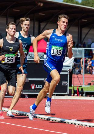 Jan-David Ridder (139) möchte zum Saisonhöhepunkt in Rostock neue persönliche Bestzeit über 800m laufen. (Foto: Jan-Hendrik Ridder)