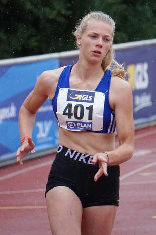Von den Skiern in die Spikes: Rieke Unland holte Bronze über 200m der U18.