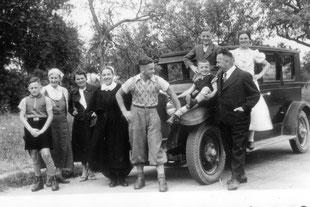 Sonntagsausfahrt bei Großvillars 1937