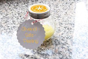 Peeling mit Olivenöl zum selbermachen