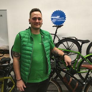 Niklas Probst; neuer Filialleiter; e-motion e-Bike Welt Stuttgart; Esslingen; Ansprechpartner; e-Bike Experte