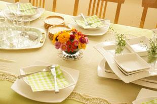 イタリア料理のテーブルコーディネイト