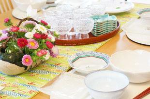 7月の和食のテーブルコーディネイト