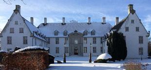 Das dänische Schloss Schackenborg in Møgeltønder im Winterglanz. Foto: Copyright Schackenborg Fonden