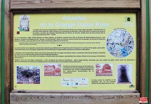 Panneau d'information en forêt de Meudon - Aqueduc de la Grange Dame Rose. Photo Vélizy Info