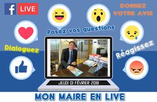 Facebook live de Pascal Thévenot, maire de Vélizy-Villacoublay.