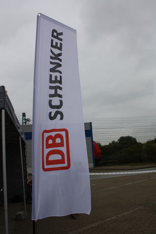 Will Deutsche Bahn's initials be taken off the Schenker flag soon?  /  picture: hs