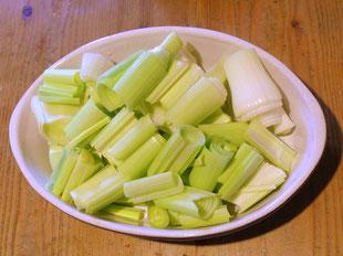 Lauch-Porree mundgerecht geschnitten