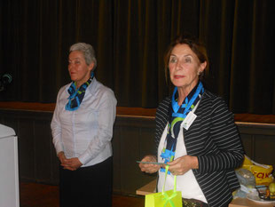 Referentin Karin Strohbeen-Hansen und 2.Vorsitzende Brigitte Jacobsen