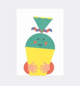 Postkarte Geburtstag Kinder für Kidner . Julia Matzke . Illustration . Bilder für Kinder