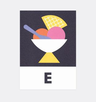 Postkarte Buchstaben ABC Lernkarten . Julia Matzke . Illustration . Bilder für Kinder