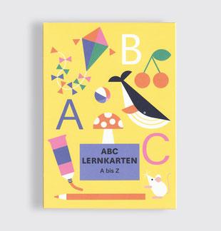 Postkarte Buchstaben ABC Lernkarten Set . Alphabet . Julia Matzke . Illustration . Bilder für Kinder