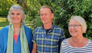 vlnr. Erika Haese, Stefan Fischer, Dr. Ulrike Fischer