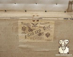 goyard trunk label
