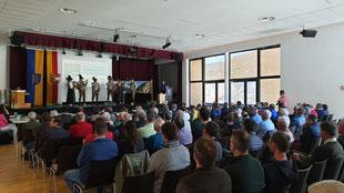 Die Jagdhornbäsergruppe Malta eröffnete die Veranstaltung