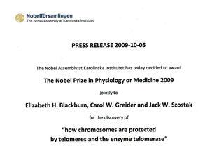 ノーベル賞:2009年