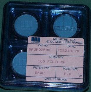Millipore Filter für die Chemie