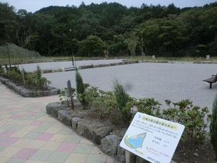 豪雨時はここに水を貯める(小鹿森の公園)