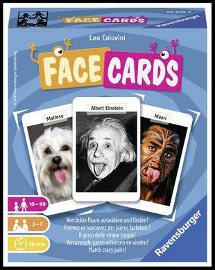 Rezension zum Kartenspiel Facecards von Leo Colovini