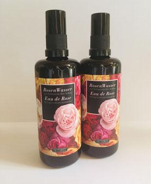 Rosenwasser aus verschiedenen Rosen aus der Zürcher Manufaktur Schweiz