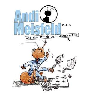 CD-Cover Andi Meisfeld und der Fluch der Briefmarken