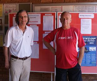DREAM-TEAM: Turnierleiter Peter Eisenbarth und Oberschiedsrichter Edwin Jager sorgen für einen möglichst reibungslosen Turnierverlauf.