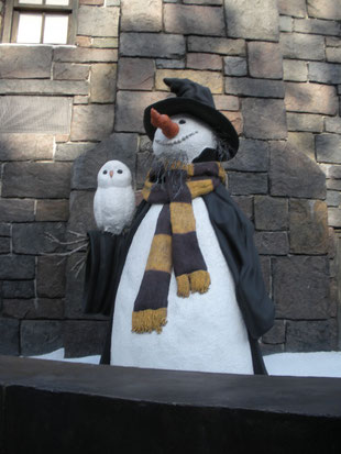 réplicas de muñecos de nieve