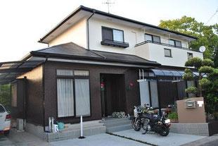 パラサーモシリコン遮熱塗装屋根 熊本K様家。