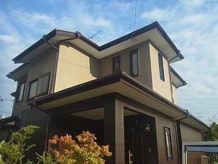 水性ルーフセラ遮熱塗装コロニアル屋根 熊本I様家。