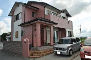 水性ルーフセラ遮熱塗装コロニアル屋根 熊本〇様家。2カラ―スタイル