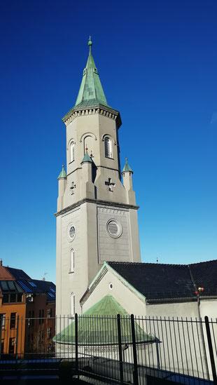 Die katholische Kirche St.Paul in Bergen