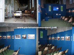 Aménagement d'un garage en salle d'expo