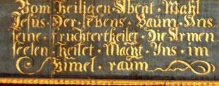 Text des Altarbildes