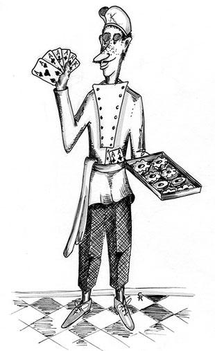Der Krummziebel Josef ist ein Pokerspieler und der Chef der himmlischen Backstuben