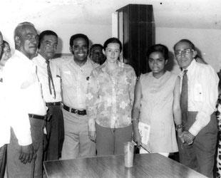 Manuel Zapata Olivella, José Barros y otros amigos.