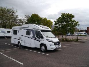 (Noch leerer) Parkplatz in Stratford-upon-Avon