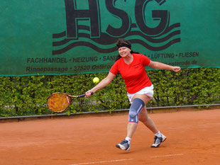 Damen 50: Mannschaftsführern Marlen Harms