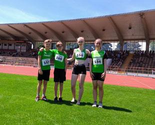 von links: Dominik, Tizian, Nikola, Madeleine