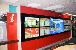 Steglose Videowall Displays. LCD Module für Videowände jeglicher Größe