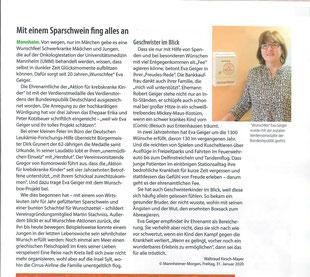 Quelle: Wir die Zeitschrift der Deutschen Kinderkrebsstiftung und der Deutschen Leukämie-Forschungshilfe.
