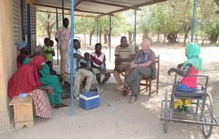 Gespräch mit der Behindertengruppe