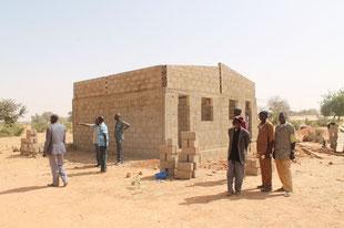 Mädchenschule - Lehrerwohnungen im Bau - Februar 2018