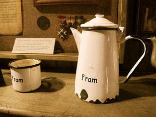 die Kaffeekann der historischen Fram